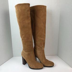 Sam Edelman Victoria Tall Suede Tan Boots